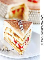 tiramisu, 케이크, 생일