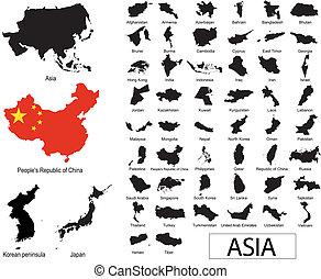 vectors, 아시아 사람, 나라
