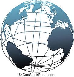 wireframe, 세계적인 구체, 거인 아틀라스, 위도, 지구