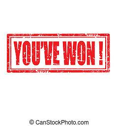 you've, won!-stamp
